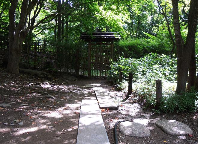 Japanese garden around Hasso-an