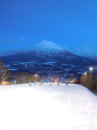 The view of Mt.Yoteizan From the top of Mt.Niseko Annupuri