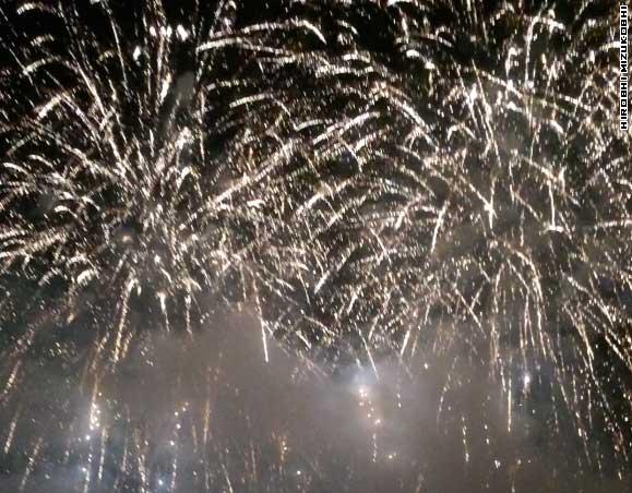 Bankei Fireworks 2014 at Sapporo Bankei Ski Area