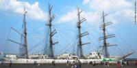 Lady of the sea, Kaiwo Maru II is staying in the Ishikari harbor