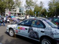 Itasha, not meaning a Italian car, it's a kind of Otaku Culture at Kitamae Sapporo Manga Anime Festival 2014