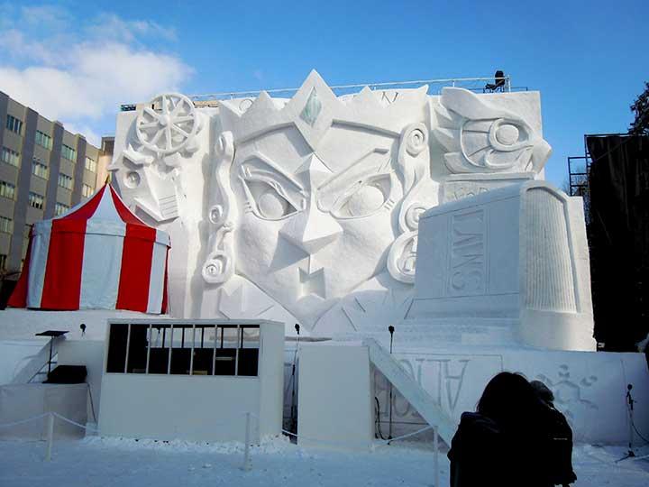 Alice's Adventure in Snow land in Sapporo Snow Festival 2015