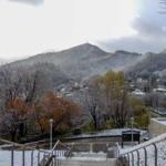 Snow and Autumn Leaves In Asahiyama Memorial Park
