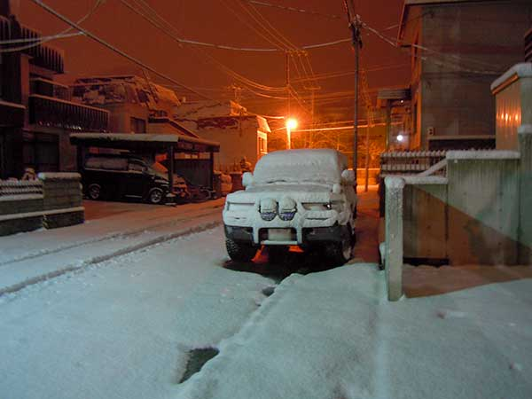 From Nov, 13 to 14, Snow Snow Snow In Sapporo