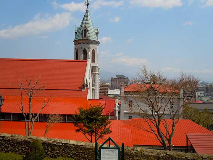 Motomachi Roman Catholic Church in Hakodate Motomachi Area