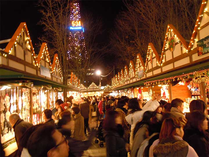 The German Christmas Market in Sapporo 2014 started on Nov, 28