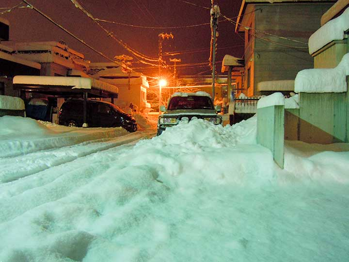 Heavy Snow Fall in Sapporo, 15 Dec, 2014