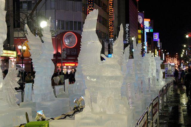 Susukino Site, Susukino Ice World 2015 in Sapporo Snow Festival 2015