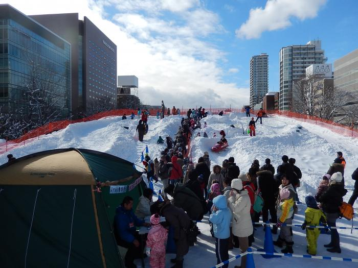 Winter Sports Festival in Odori Park, Sapporo