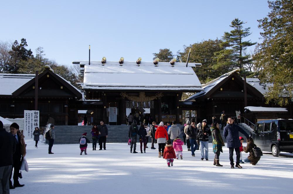 Hokkaido Jingu in winter