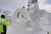 International Snow Sculpture Contest 2016 in Sapporo Snow Festival