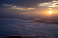 A Great Sea of Cloud from the top of Tsubetsu pass.